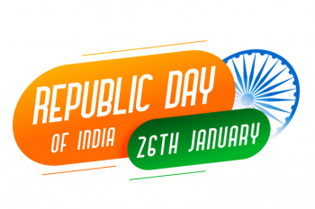 Republic day of india modern style banner Free Vector