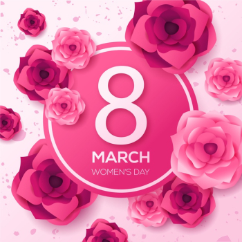Floral theme for womens day event Free Vector