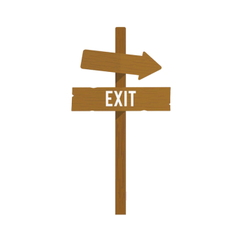 Illustration of exit sign vector