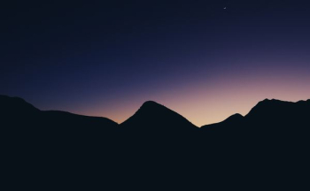 silhouette of mountain hill png image transparent background