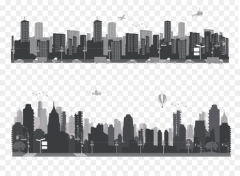 Architectural engineering Skyline Building Silhouette - City Silhouette  png image transparent background