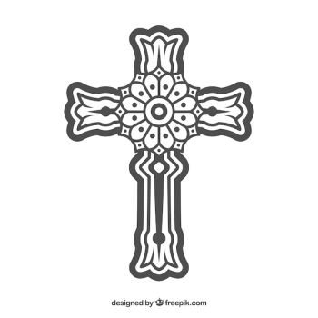 Cross outline - The Most Downloaded Images & Vectors
