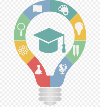 Education Teacher Logo School - Vector painted light bulb  png image transparent background