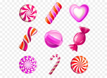 Lollipop Candy cane Cotton candy Cupcake - Hand-painted candy  png image transparent background