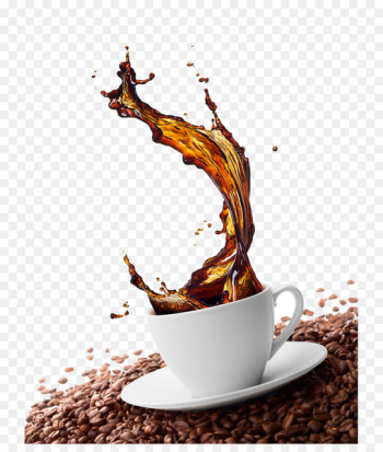 Green coffee Cappuccino Cafe Coffee bean - Coffee splash effect  png image transparent background