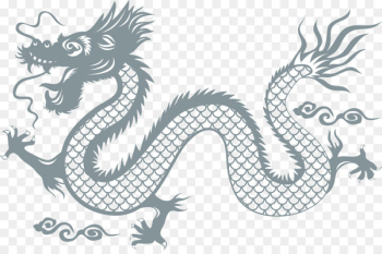 China Chinese dragon Wall decal Sticker - Chinese dragon vector blue  png image transparent background