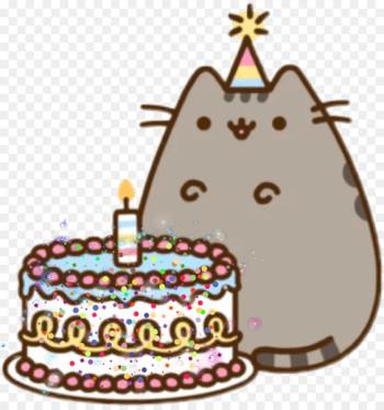 Birthday cake Cat Pusheen Happy Birthday to You - birthday cake  png image transparent background
