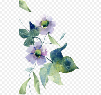 Watercolor painting Watercolor: Flowers Floral design - Watercolor flowers  png image transparent background