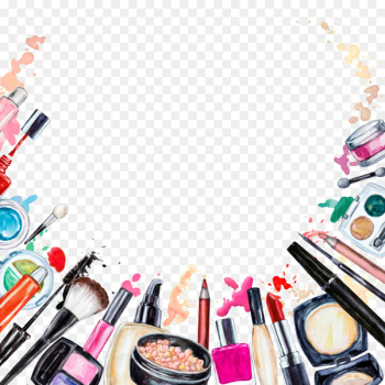 Cosmetics Beauty Lipstick Makeup brush Eye shadow - Creative Makeup Tools  png image transparent background