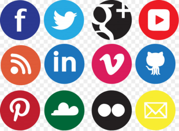 Social media Social network Icon design Icon - Social Icons Transparent Background  png image transparent background