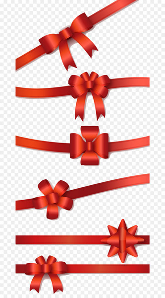 Euclidean vector Download - 6 red ribbon bow vector  png image transparent background