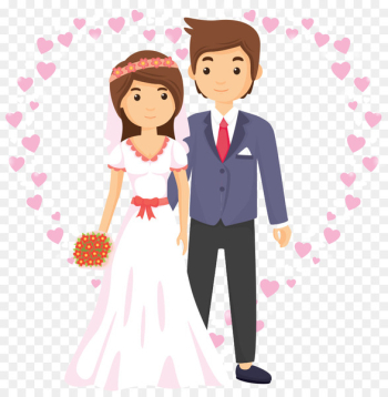 Wedding anniversary Wish Hindi WhatsApp - Vector love and cartoon couple  png image transparent background
