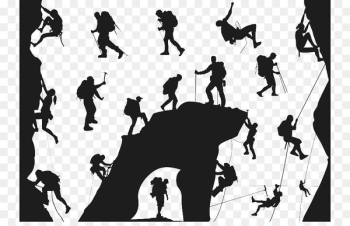 Climbing Silhouette Mountaineering Extreme sport - Outdoor rock climbing  png image transparent background