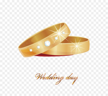 Wedding ring Stock photography Diamond - Gold Wedding Rings  png image transparent background