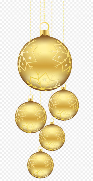 Christmas ornament Gold Clip art - Christmas Golden Balls Ornaments PNG Picture  png image transparent background