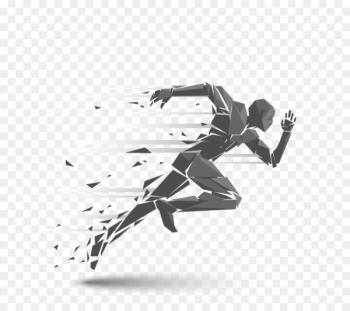 Running Royalty-free Silhouette Illustration - Spray running man  png image transparent background