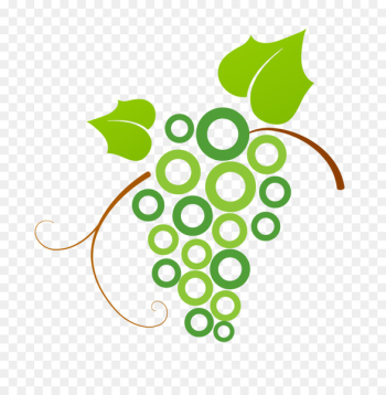 Logo Common Grape Vine - Green, fresh grape logo  png image transparent background