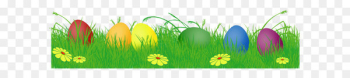 Easter Bunny Easter egg Egg hunt Clip art - Easter Eggs with Grass PNG Clipart Picture  png image transparent background