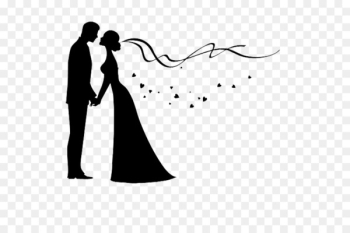 Bridegroom Wedding invitation Silhouette - The couple  png image transparent background