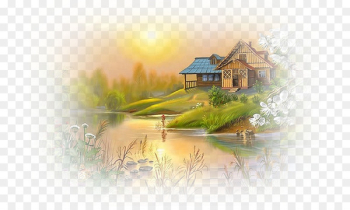 World-famous paintings Drawing Landscape painting Art - painting  png image transparent background