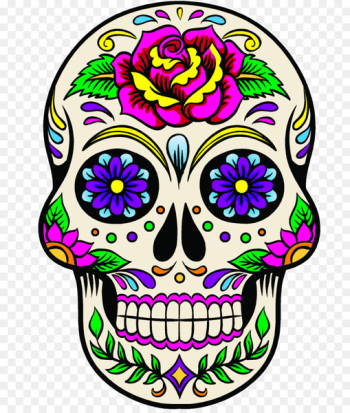 Calavera Mexican cuisine Day of the Dead Death Floral Ornament - Calavera Mexican  png image transparent background