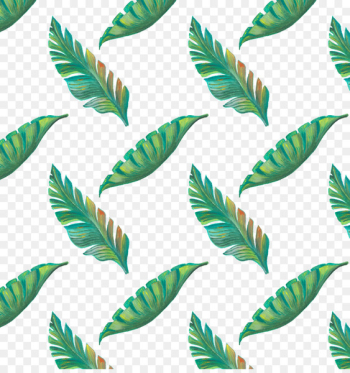 Leaf Tropics Drawing - Hand painted green tropical leaves pattern  png image transparent background