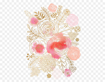 Flower Watercolor painting Floral design Pink - Watercolor flowers  png image transparent background
