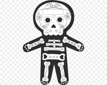 La Calavera Catrina Day of the Dead Clip art Death - mexican skull transparent  png image transparent background