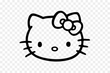 Hello Kitty Vector graphics Black and white Image Drawing - hello kitty frame  png image transparent background