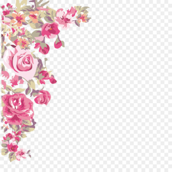 Flower Wallpaper - -painted flowers corner  png image transparent background