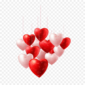 Valentines Day Heart Balloon Illustration - Heart  png image transparent background