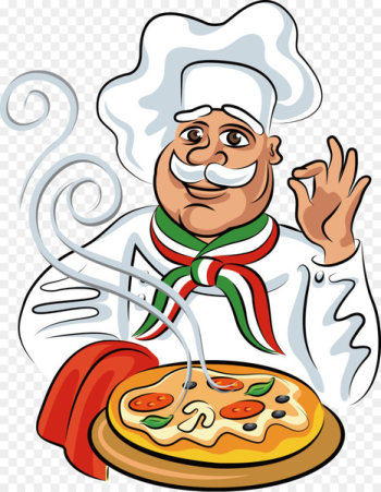 Pizza Italian cuisine Chef Cook - Take the pizza cartoon chef  png image transparent background