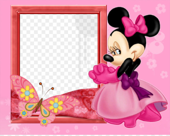 Minnie Mouse Mickey Mouse Picture Frames Photography - magnet  png image transparent background