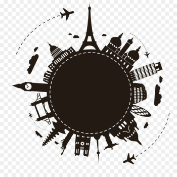 Package tour Travel Agent - Earth Travel Silhouette  png image transparent background