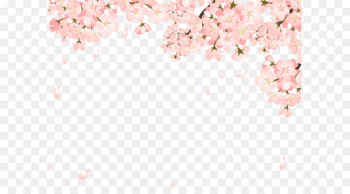 Cherry blossom Copyright-free Illustration - Pretty Peach falling  png image transparent background