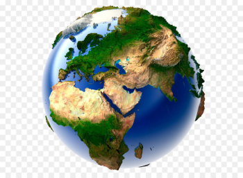 Earth Globe World map - Blue Earth  png image transparent background