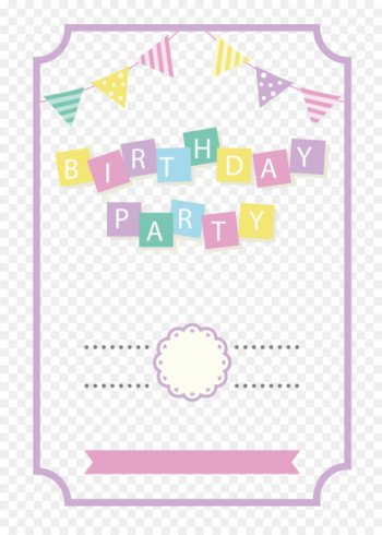 Paper Wedding invitation Birthday Party Convite - Hand painted birthday decorations  png image transparent background