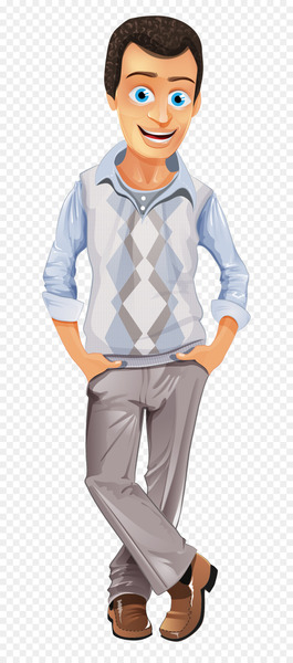 Business casual Casual Friday Clip art - Fashion hand-painted cartoon man  png image transparent background