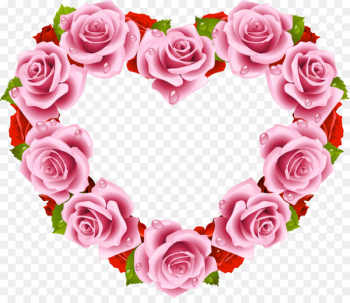 Rose Heart Flower Stock photography - flower heart  png image transparent background