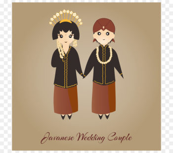 Indonesia Javanese people Illustration - Indonesian Traditional Wedding  png image transparent background
