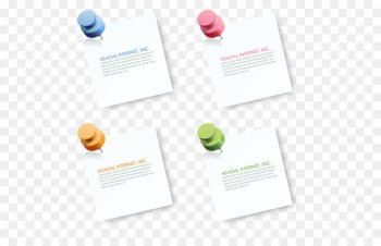 Paper Menu Sticker - Four-color stickers will pin  png image transparent background