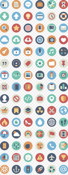 Icon design Flat design Icon - Phone APP round flat  png image transparent background