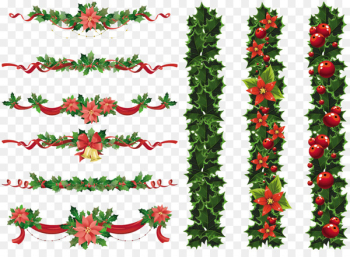 Christmas Garland Wreath Clip art - Christmas Elements PNG Transparent Image  png image transparent background