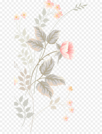 Floral design Flower Watercolor painting Pattern - Pink hand-painted flowers  png image transparent background