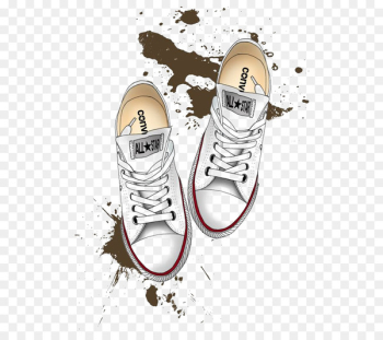 Converse Drawing Shoe Chuck Taylor All-Stars Illustration - White skateboard shoes  png image transparent background