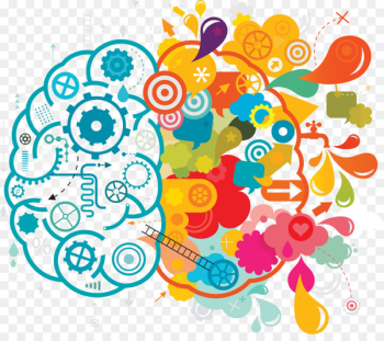 Your Creative Brain Creativity Lateralization of brain function Clip art - Blue color creative brainstorming ideas  png image transparent background