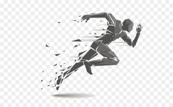 Running Geometry Clip art - Abstract running man  png image transparent background