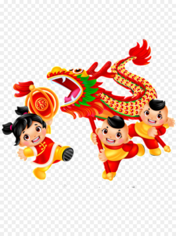 Dragon dance Lion dance Chinese New Year Image - chinese new year  png image transparent background