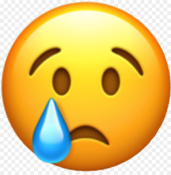 World Emoji Day WhatsApp Emoticon Crying - sad emoji  png image transparent background