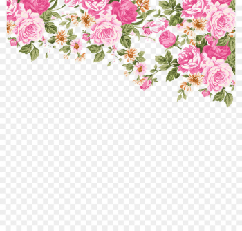 Wedding invitation Paper Stationery Zazzle Clip art - Hand-painted roses border  png image transparent background